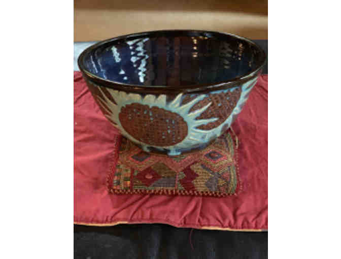 Stoneware bowl with Sunflower motif by Frank Philipps