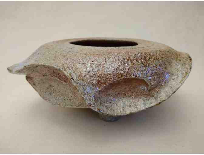 Eye-footed bowl by Bruce Bankert