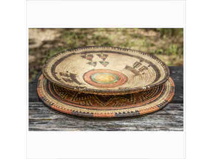 Rustic American Indian style bowl and round