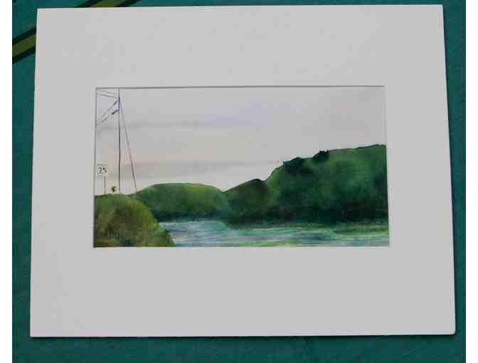 Matted Watercolor by Artist in Residence Allison Spreadborough - Photo 1