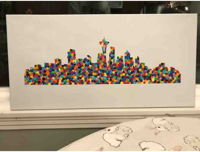 Preschool 3-Day Class Art Project - 'Seattle Skyline'