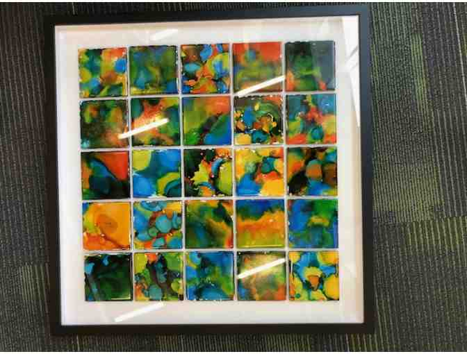 Mrs. Peoples' Class Art Project - 'Ink Drop Tiles'