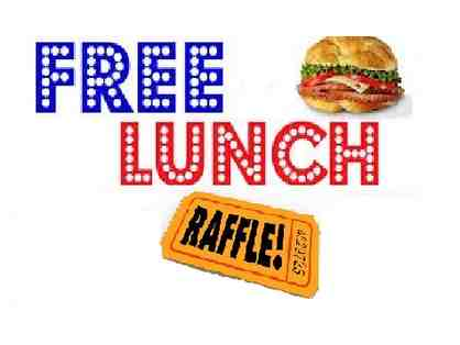 SINGLE Raffle Ticket - FREE lunch for a year!