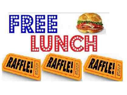 THREE Raffle Tickets - FREE lunch for a year!
