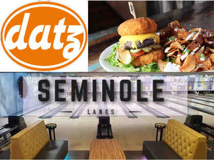 $25 to Datz Restaurants and 8 Games of Bowling at Seminole Lanes