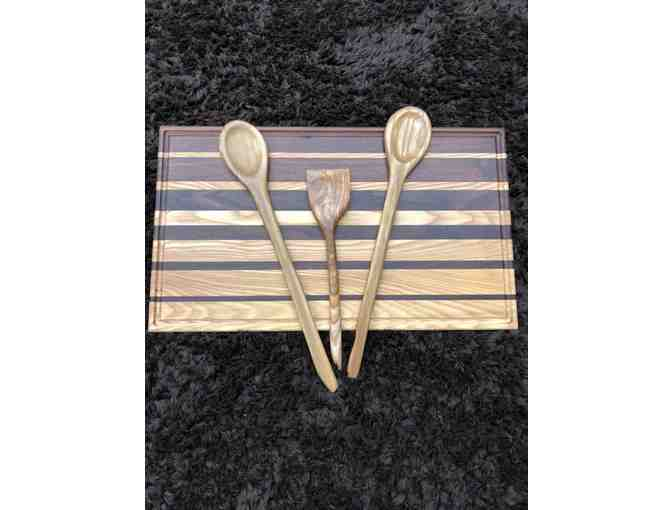 Handmade Cutting Board and Spoons