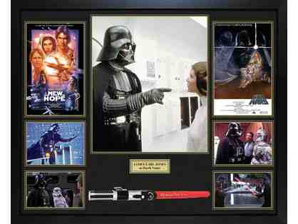 James Earl Jones Signed Darth Vader Lightsaber With Custom Display Case