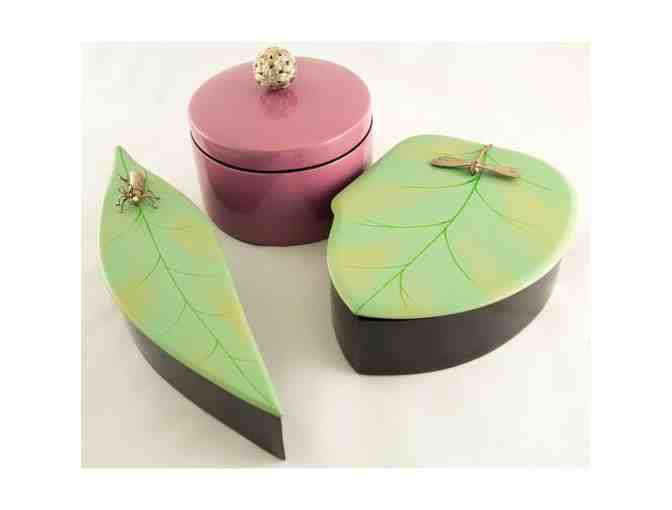 Enchanted Leaf Box Set with Cricket and Dragonfly accents - Photo 1