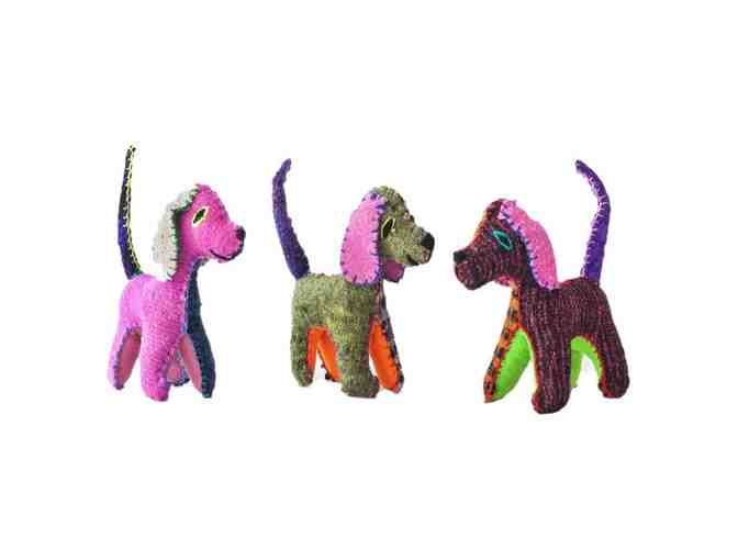 Chiapas Wool Felt Animalitos - Trio Of Dogs - Photo 1