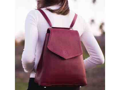 AUDREY CONVERTIBLE BACKPACK - RUBY