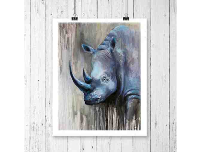 "African Animal Canvas Prints ""Blue Ghost"" Canvas Wall Art - Photo 1"