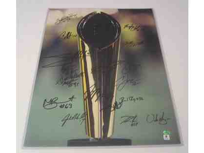 2014 Ohio State Football Team Autographed Photo National Champs