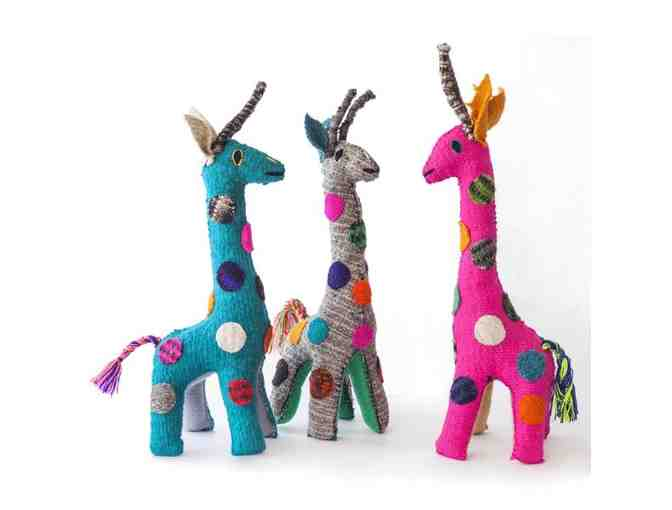 Chiapas Wool Felt Animalitos - Three Large Giraffes - Photo 1
