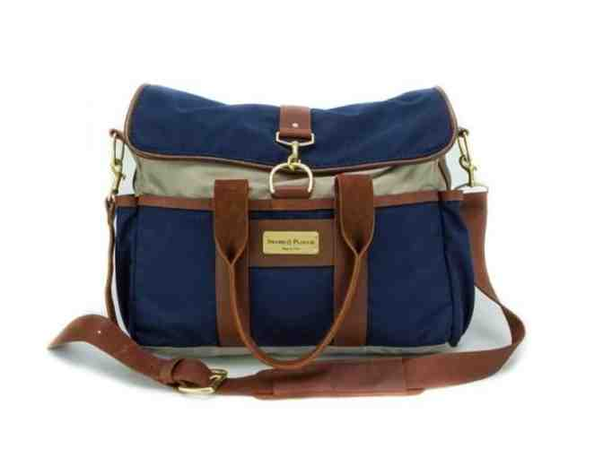 Blue Signature Messenger Bag