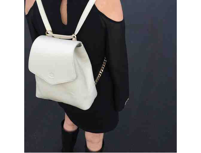 AUDREY CONVERTIBLE BACKPACK - PEARL - Photo 1