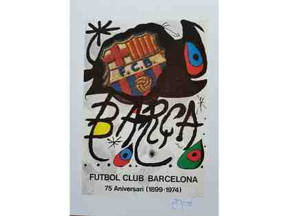 1980 Barcelona Soccer 75th Anniversary Joan Miro Autographed Print