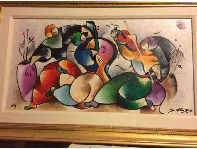 David Schluss Autographed Numbered Sonata Serigraph - Photo 1
