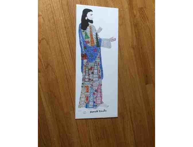 Howard Finster Autographed Jesus Folk Art Lithograph - Photo 1