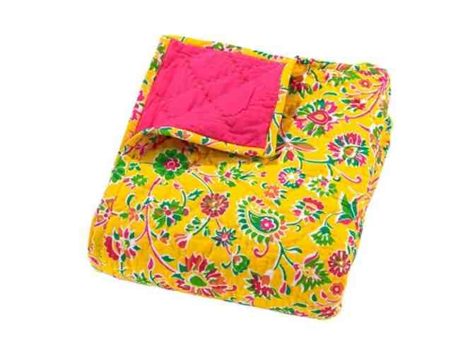 Moksha Reversible Quilt Ananya Floral Yellow - Photo 1