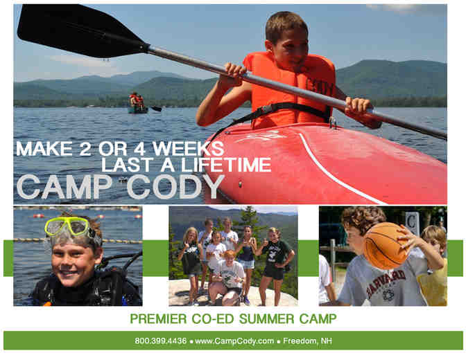 Camp Cody (Dover, New Hampshire): $1,850 gift card (New families only) (Code: 0000) - Photo 1