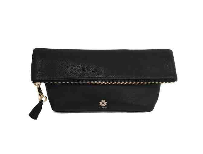 Audrey Foldover Clutch - Black - Photo 1