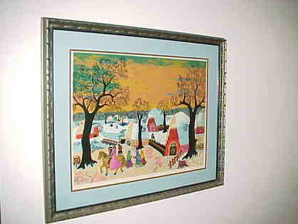 Winter Snow Villiage Numbered Print