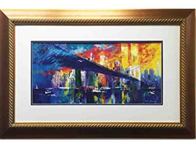 Brooklyn Bridge Over Wall Street Art Print by Leroy Neiman - Photo 1