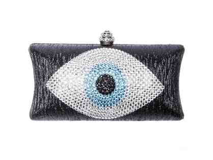 Evil Eye Clutch Black And Blue