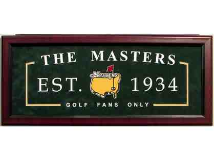 Masters Augusta Establishment Sign