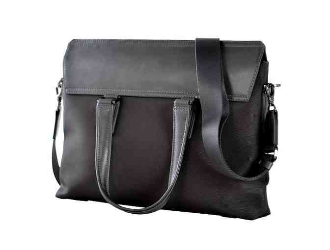 Satchel- Ballistic Nylon with leather-Gray - Photo 1