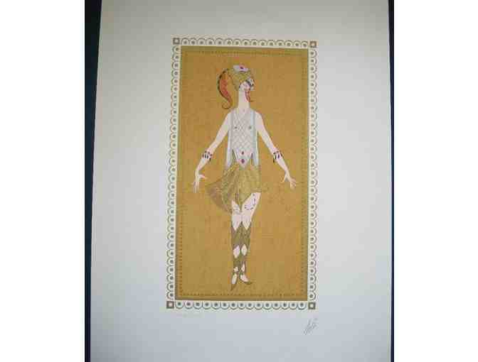 Erte Lady Dancer Warrior Autographed & Numbered Lithograph - Photo 1