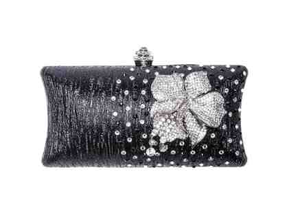 Orchid Clutch Black