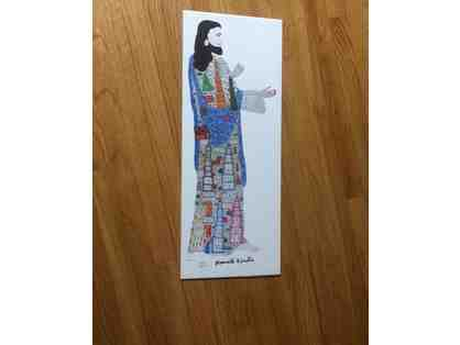 Howard Finster Autographed Jesus Folk Art Lithograph