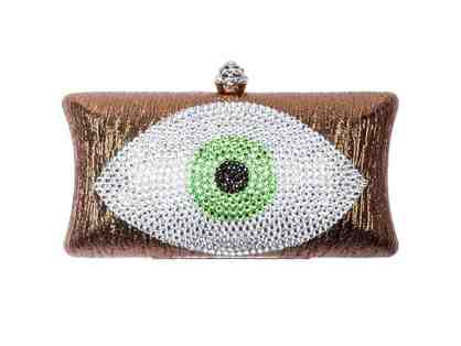 Evil Eye Clutch Bronze And Light Green