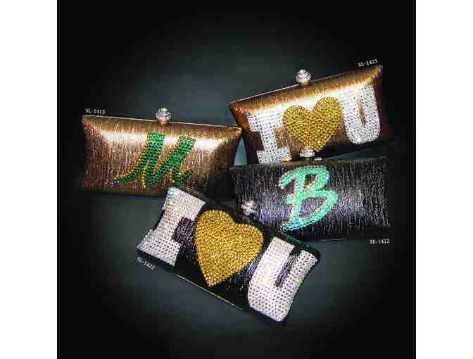 Initial Print Clutch - Customizable - Photo 1