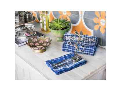 Vintage Indigo Napkins - Three Sets of Four