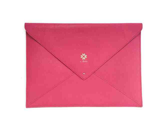 Percy Envelope Clutch - Crimson Pink - Photo 1