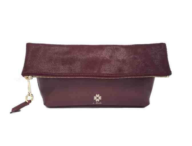 Audrey Foldover Clutch - Burgundy - Photo 1