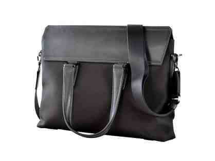 Satchel- Ballistic Nylon with leather-Gray