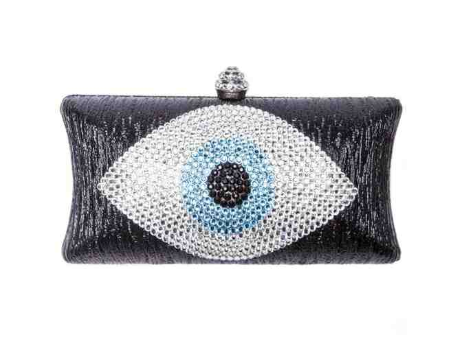 Evil Eye Clutch Black And Blue - Photo 1
