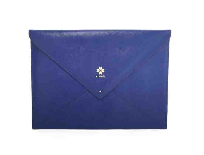 Percy Envelope Clutch - Cobalt Blue - Photo 1