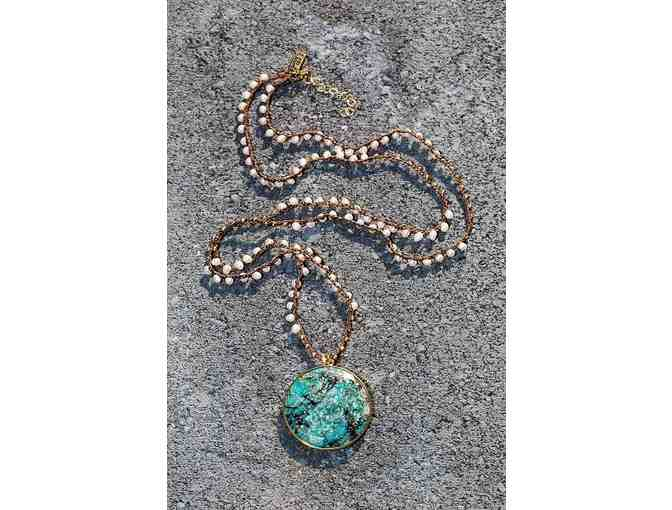 Chrysocolla Bardot Necklace - Photo 1