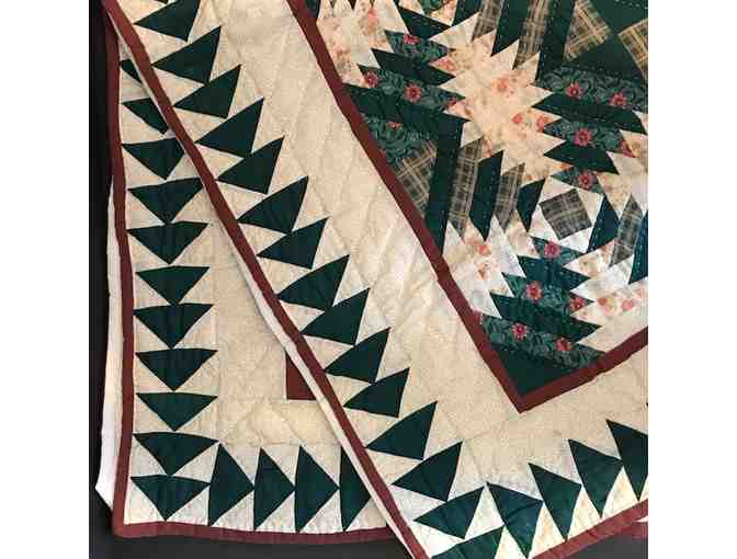 Quilt in Hunter Green and Burgundy