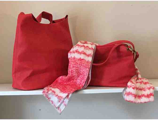 Hobo Bags and Scarf from Clad in