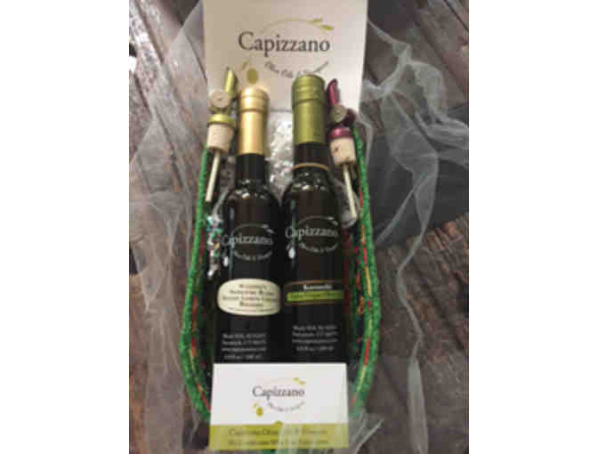 Basket of Olive Oils from Capizzano Olive Oils and Vinegars