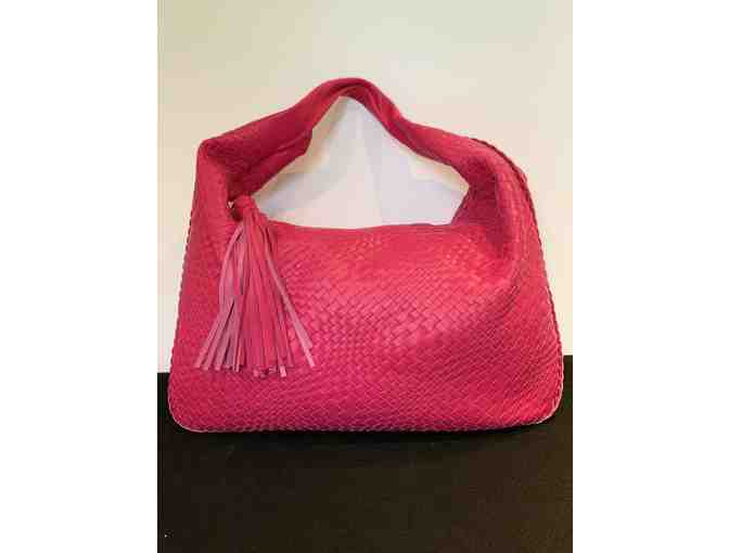 Italian Designer woven leather handbag
