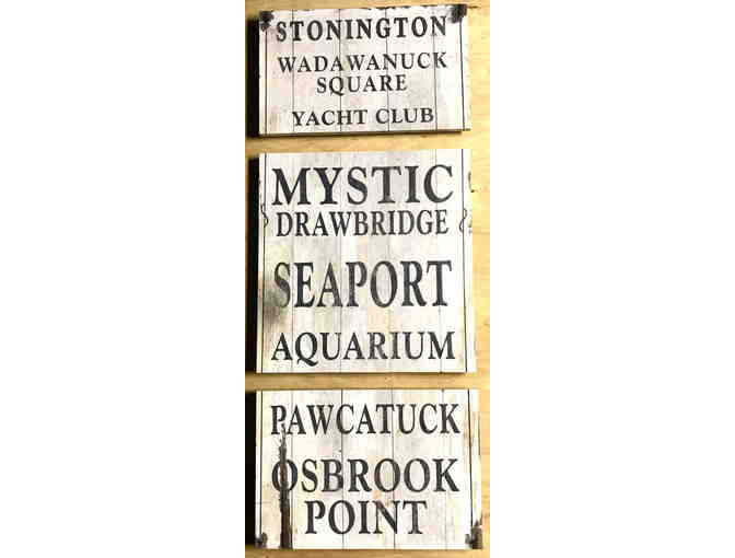 Stonington Triptych - 3 wooden signs from Miceli's Furniture