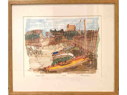 Beachfront 1990, Signed Print by Richard Gerstman