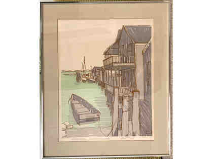 Old North Wharf 1976, Signed Print by Richard Gerstman