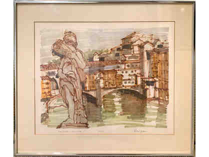 Ponte Vecchio 1978, Signed Print by Richard Gerstman